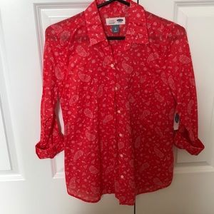 Light printed ladies button down